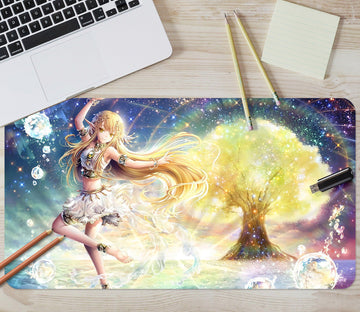 3D Goddess Of The Tree 3967 Desk Mat
