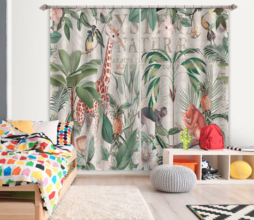3D Animal Home 077 Andrea haase Curtain Curtains Drapes Curtains AJ Creativity Home