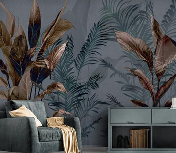 3D Leaves 1448 Wall Murals