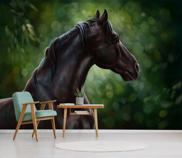 3D Black Horse 287 Wall Murals