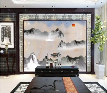 3D Abstract Valley 2612 Wall Murals