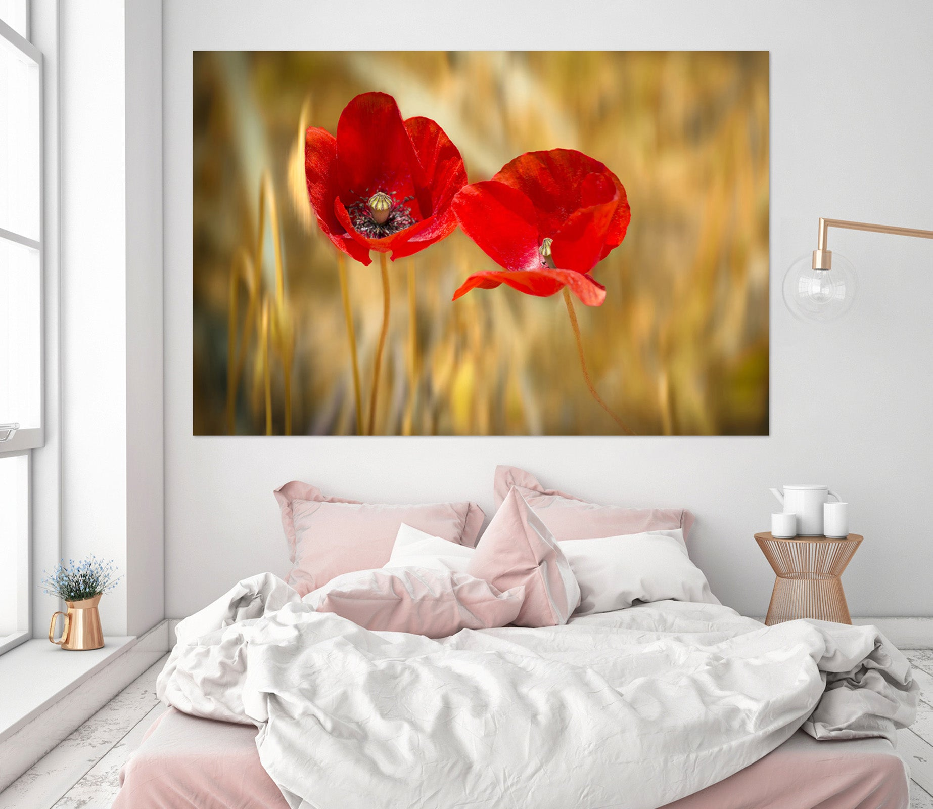3D Red Flowers 220 Marco Carmassi Wall Sticker