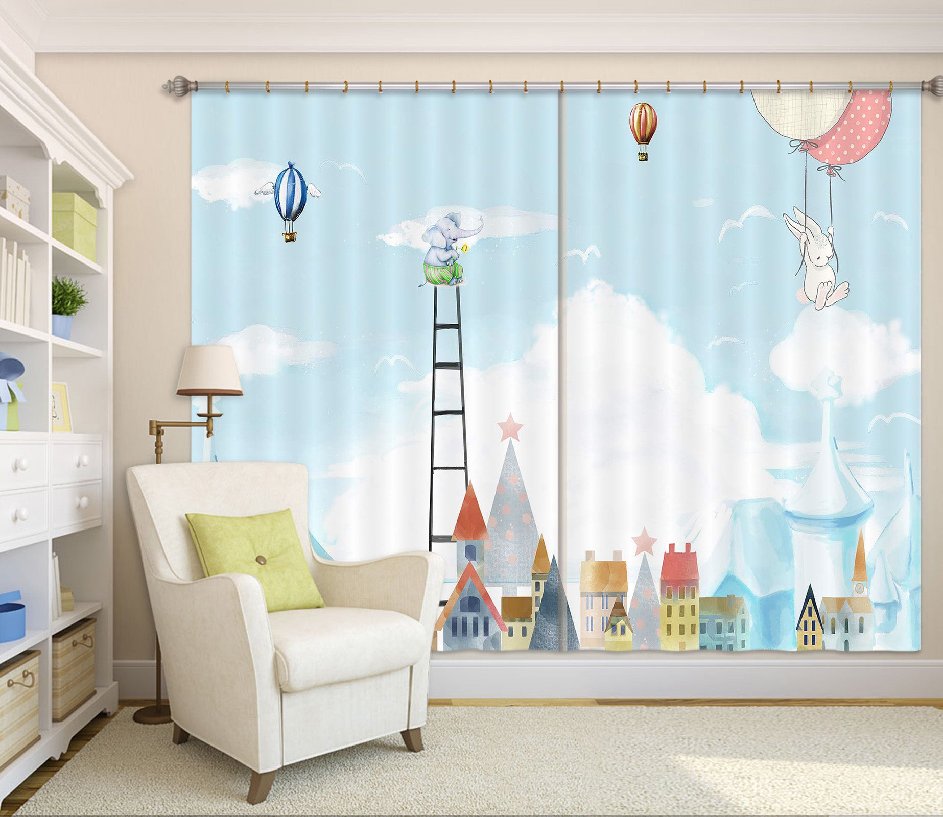 3D Children Kingdom 744 Curtains Drapes