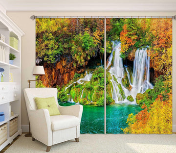 3D Autumn Valley 825 Curtains Drapes Wallpaper AJ Wallpaper