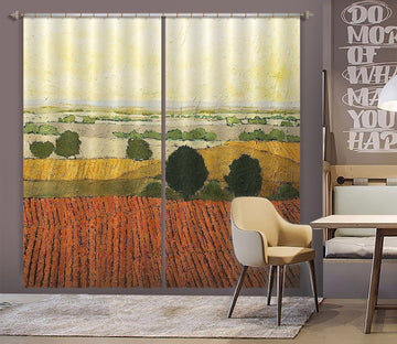 3D Autumn Field 120 Allan P. Friedlander Curtain Curtains Drapes Curtains AJ Creativity Home