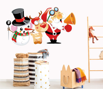 3D Santa Claus Horn Deer 44 Wall Stickers Wallpaper AJ Wallpaper
