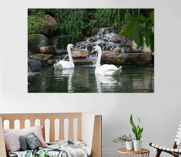 3D Swan Stone 122 Animal Wall Stickers