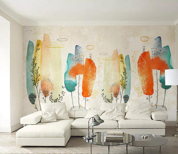 3D Colored Feathers C096 Wall Murals