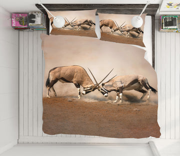 3D Antelope 21025 Bed Pillowcases Quilt