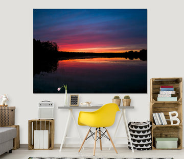 3D Sunset Sea 130 Jerry LoFaro Wall Sticker