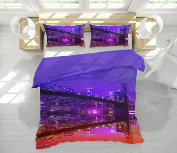 3D Brooklyn Over The Sunset 016 Marco Carmassi Bedding Bed Pillowcases Quilt