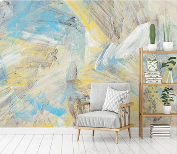 3D Yellow Abstract WC1024 Wall Murals
