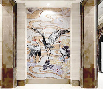 3D White Crane WC277 Wall Murals