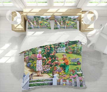 3D Tending A Cottage Garden 2056 Trevor Mitchell bedding Bed Pillowcases Quilt
