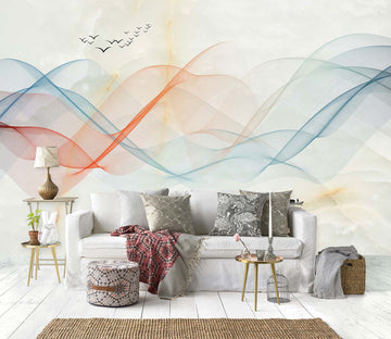 3D Color Wave 1458 Wall Murals