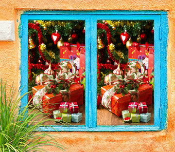 3D Christmas Gift 42168 Christmas Window Film Print Sticker Cling Stained Glass Xmas