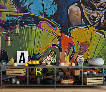 3D Abstract Graffiti 865 Wall Murals Wallpaper AJ Wallpaper 2