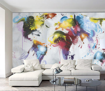 3D Color Graffiti 2030 Wall Murals
