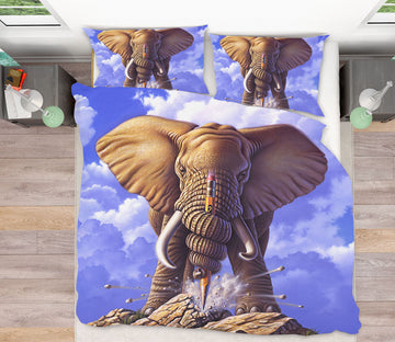 3D Elephant 18059 Jerry LoFaro bedding Bed Pillowcases Quilt