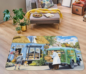 3D The Village Bakery 1121 Trevor Mitchell Rug Non Slip Rug Mat