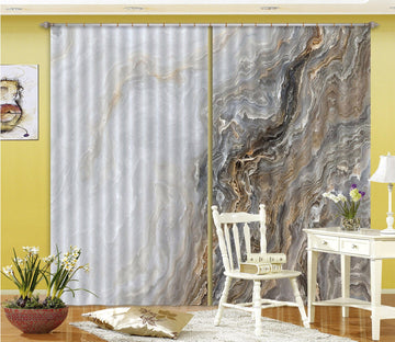 3D Wave Irregular Line 68 Curtains Drapes
