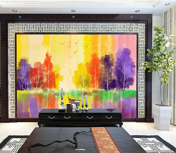 3D Colorful Woods 1804 Wall Murals
