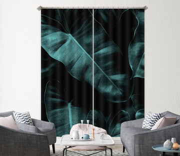 3D Banana Leaf 1119 Boris Draschoff Curtain Curtains Drapes
