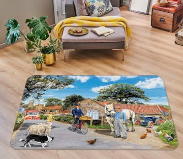 3D Post For The Farm 1097 Trevor Mitchell Rug Non Slip Rug Mat