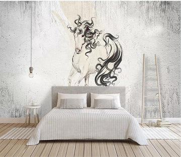 3D Black Ink Ball 2255 Wall Murals