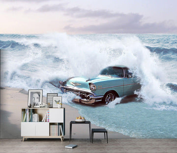 3D Sea Car 933 Vehicle Wall Murals