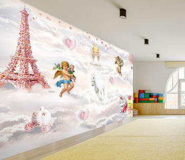 3D Tower Angel 013 Wall Murals