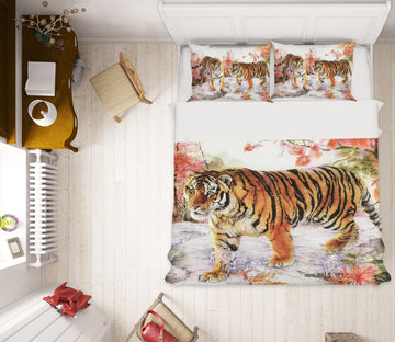3D Snow Tiger 21060 Bed Pillowcases Quilt
