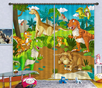 3D Animal Kingdom 775 Curtains Drapes Wallpaper AJ Wallpaper