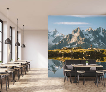 3D Mountain Lake 1010 Wall Murals