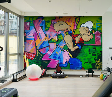 3D Graffiti Movement 017 Wall Murals