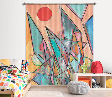 3D Color Painting 115 Allan P. Friedlander Curtain Curtains Drapes