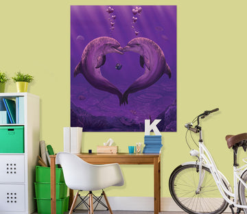 3D Sea Of Hearts Def 067 Vincent Hie Wall Sticker