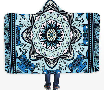 3D Diamond Pattern 101 Hooded Blanket