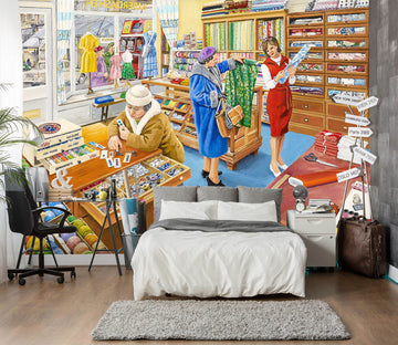 3D The Haberdasher 1059 Trevor Mitchell Wall Mural Wall Murals