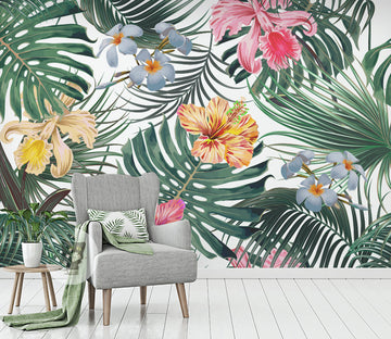 3D Colored Flowers WG277 Wall Murals