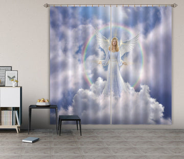 3D Angel Goddess 037 Jerry LoFaro Curtain Curtains Drapes Curtains AJ Creativity Home