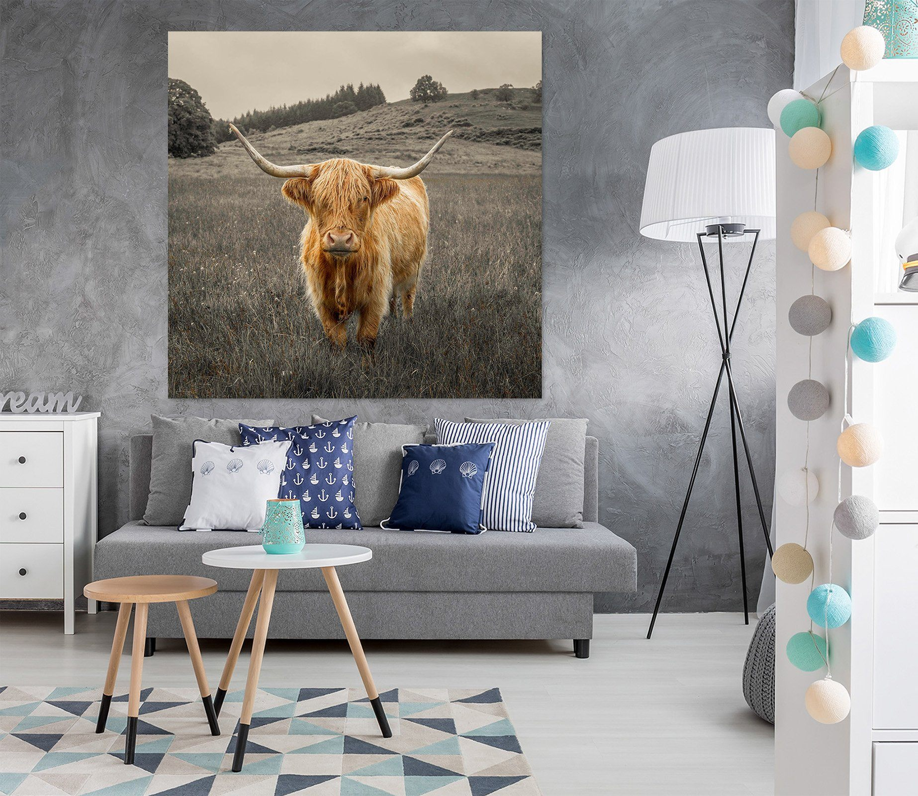 3D Alpine Cattle 032 Assaf Frank Wall Sticker Wallpaper AJ Wallpaper 2