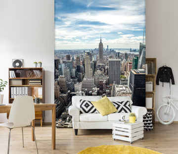 3D City Sky 1544 Wall Murals