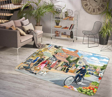 3D The Village High Street 1124 Trevor Mitchell Rug Non Slip Rug Mat
