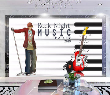 3D Music Guitar 1176 Wall Murals
