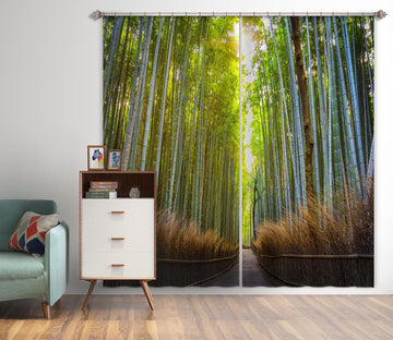 3D Bamboo Forest 079 Marco Carmassi Curtain Curtains Drapes Curtains AJ Creativity Home