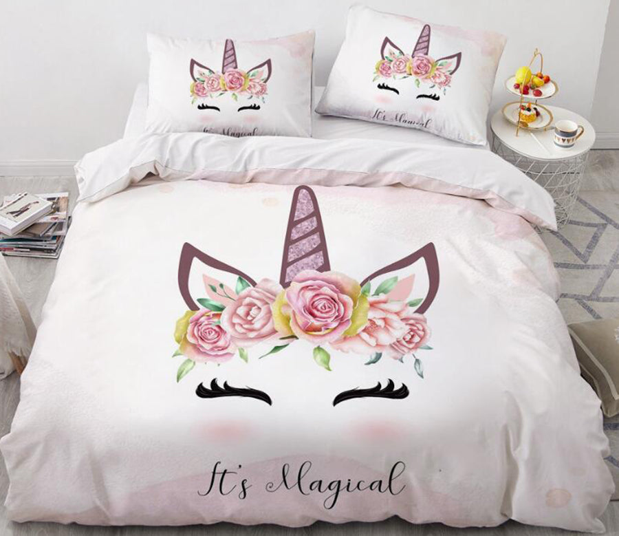 3D Unicorn Horn 161 Bed Pillowcases Quilt
