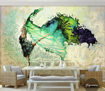 3D Abstract Dance 185 Wall Murals Wallpaper AJ Wallpaper 2