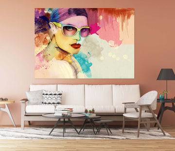 3D Woman Oil Painting 1001 Wall Sticker