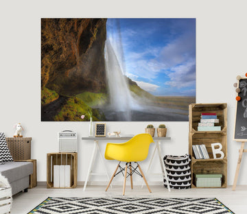 3D Alpine Waterfall 164 Marco Carmassi Wall Sticker Wallpaper AJ Wallpaper 2